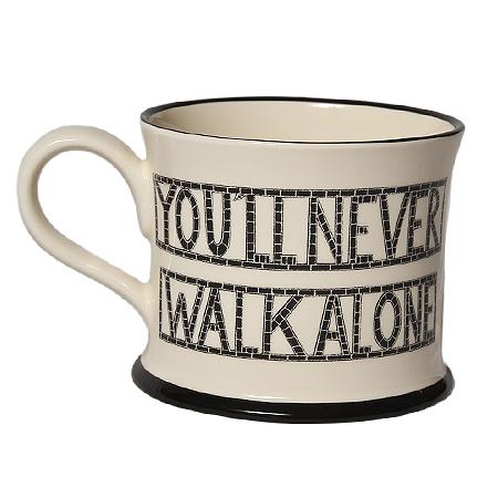 "Moorland Pottery Mug ""Never walk Alone"" Scouserware"