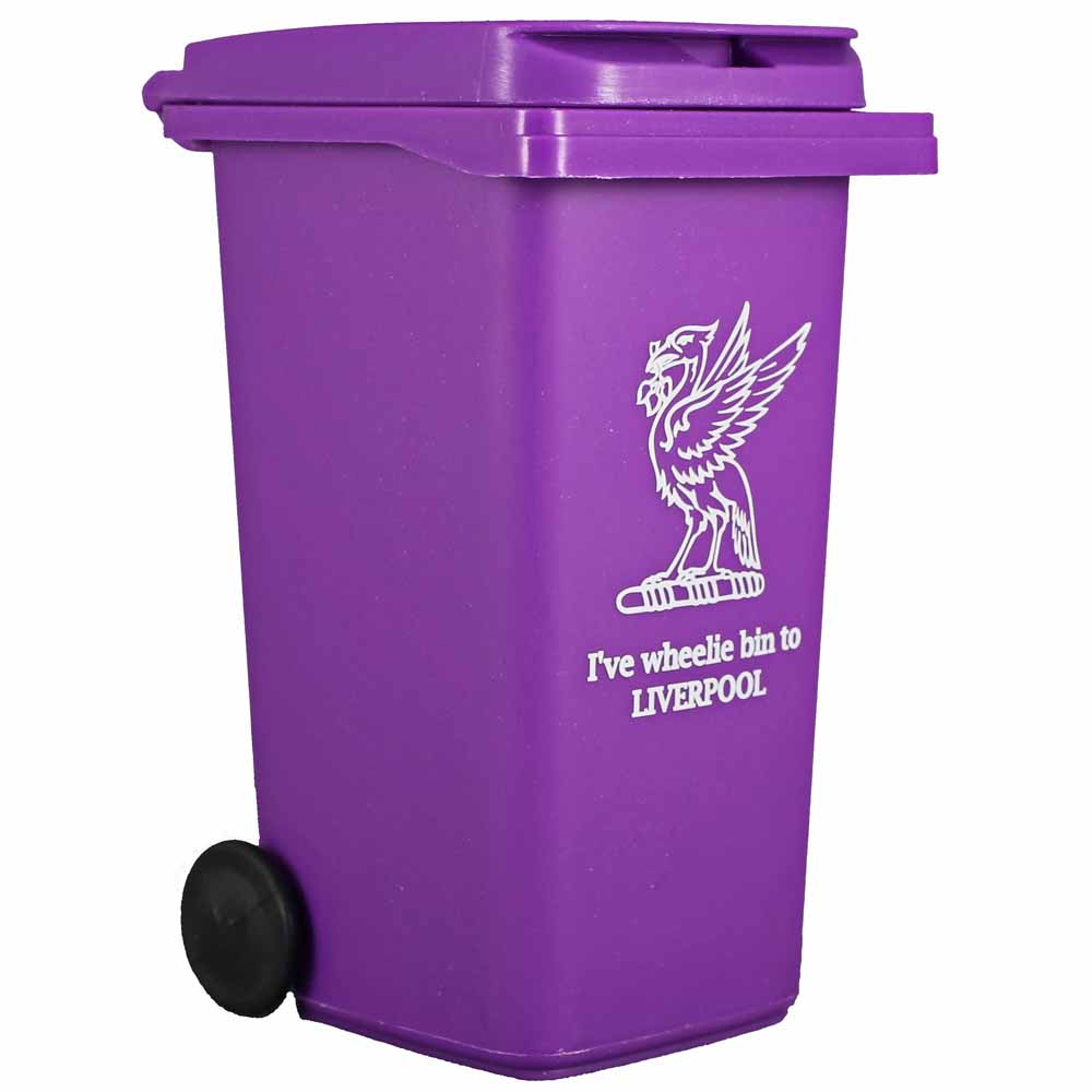 Liverpool Purple Wheelie Bin Desk Tidy Liverpool Gift