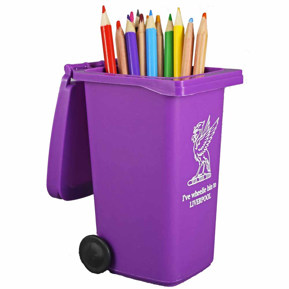 Liverpool Purple Wheelie Bin Desk Tidy