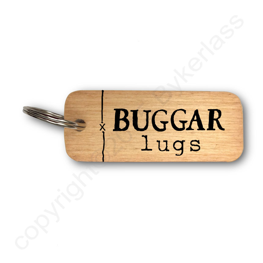 'Buggar Lugs' Liverpool Wooden Keyring