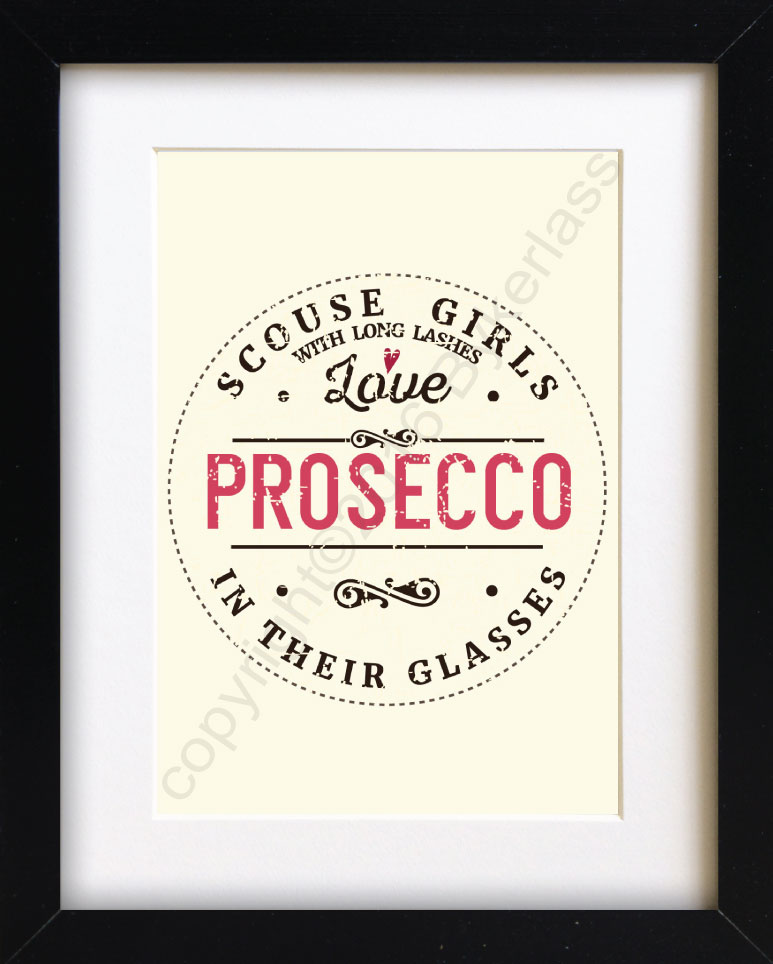 Scouse Girls Love Prosecco Print