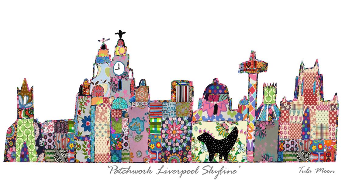 Liverpool Skyline Print Tula Moon Liverpool Gift Company