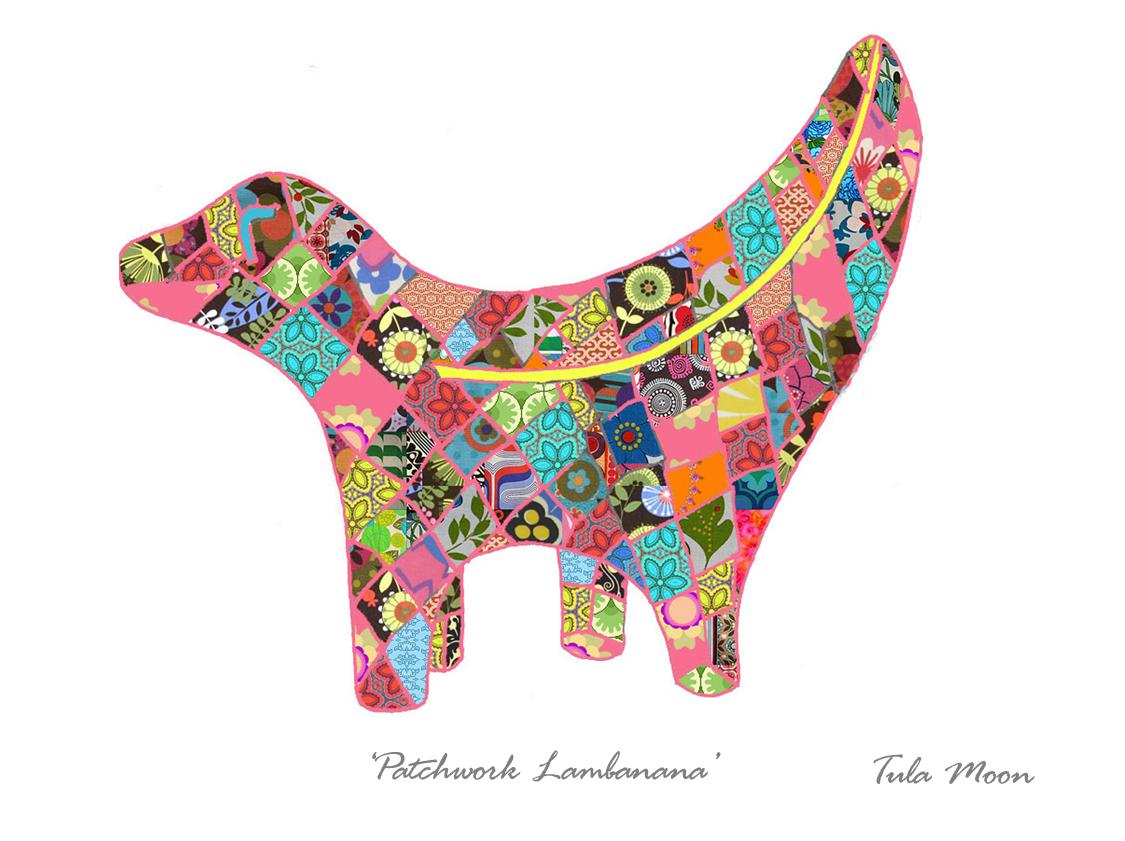 Tula Moon – Patchwork Pink Lambanana Print