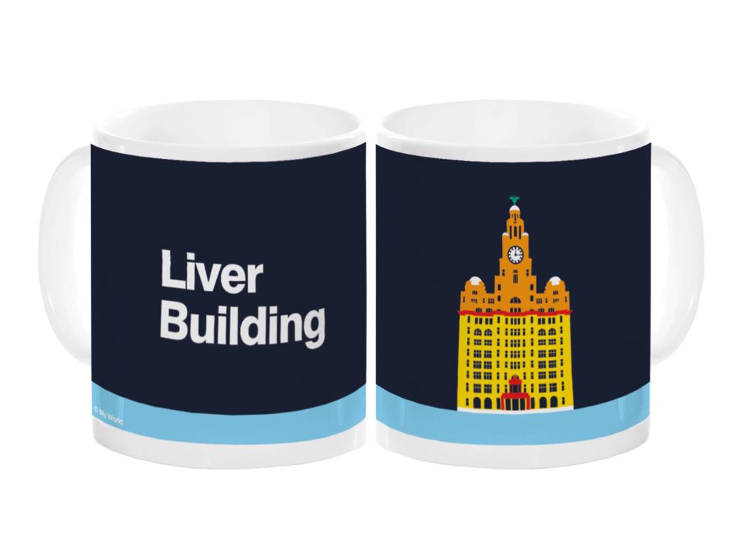 Liverpool Liver Building Mug