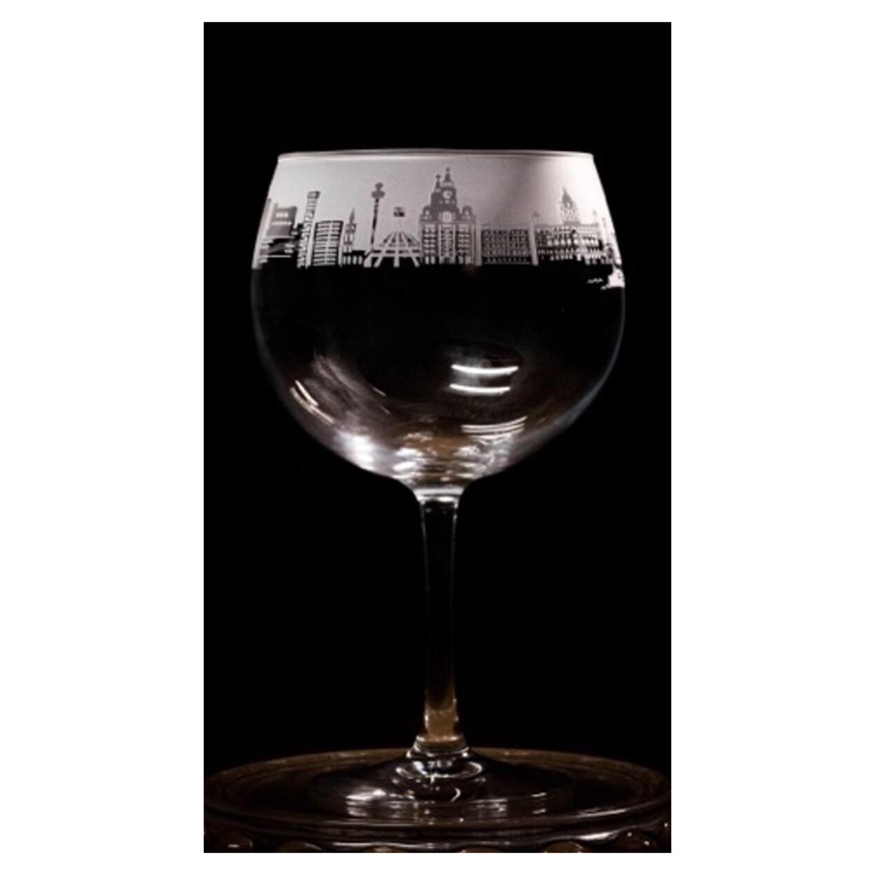 Liverpool Skyline Gin Glass
