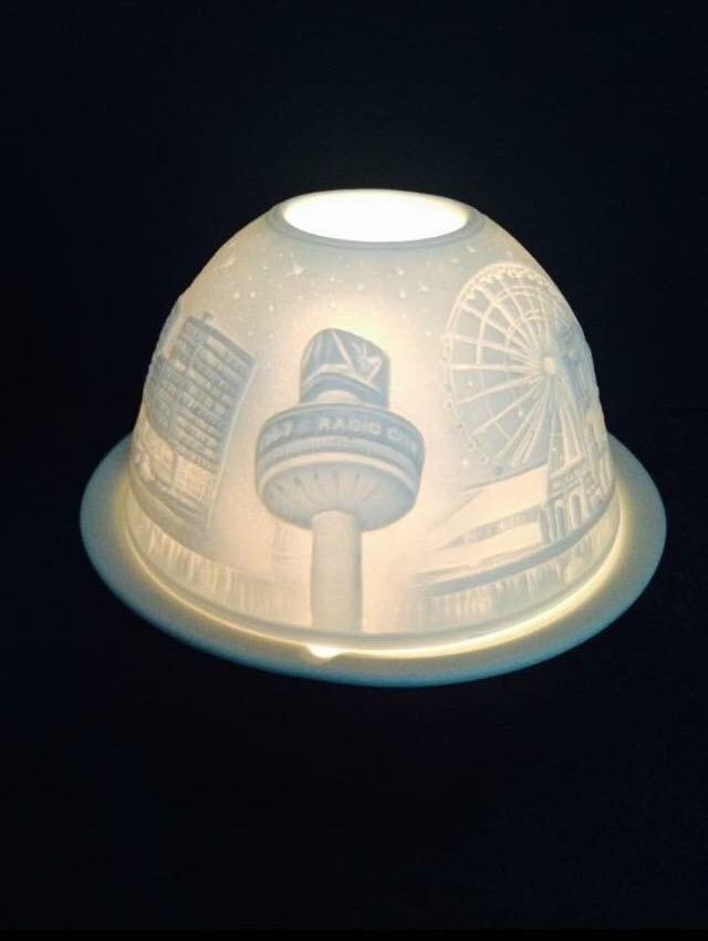 Liverpool Skyline Ceramic Tea Light Holder Liverpool
