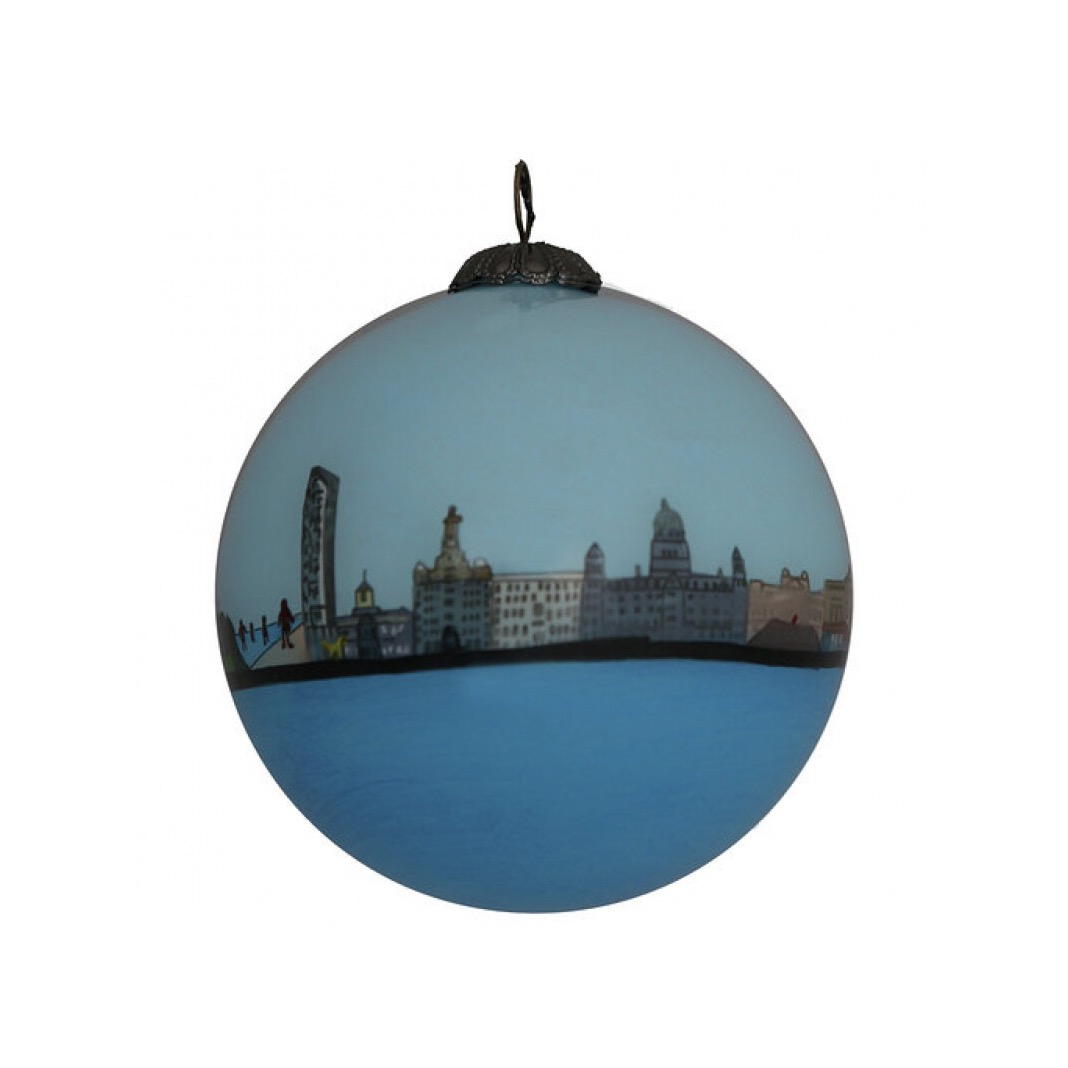 Liverpool Skyline Bauble – All Year Round