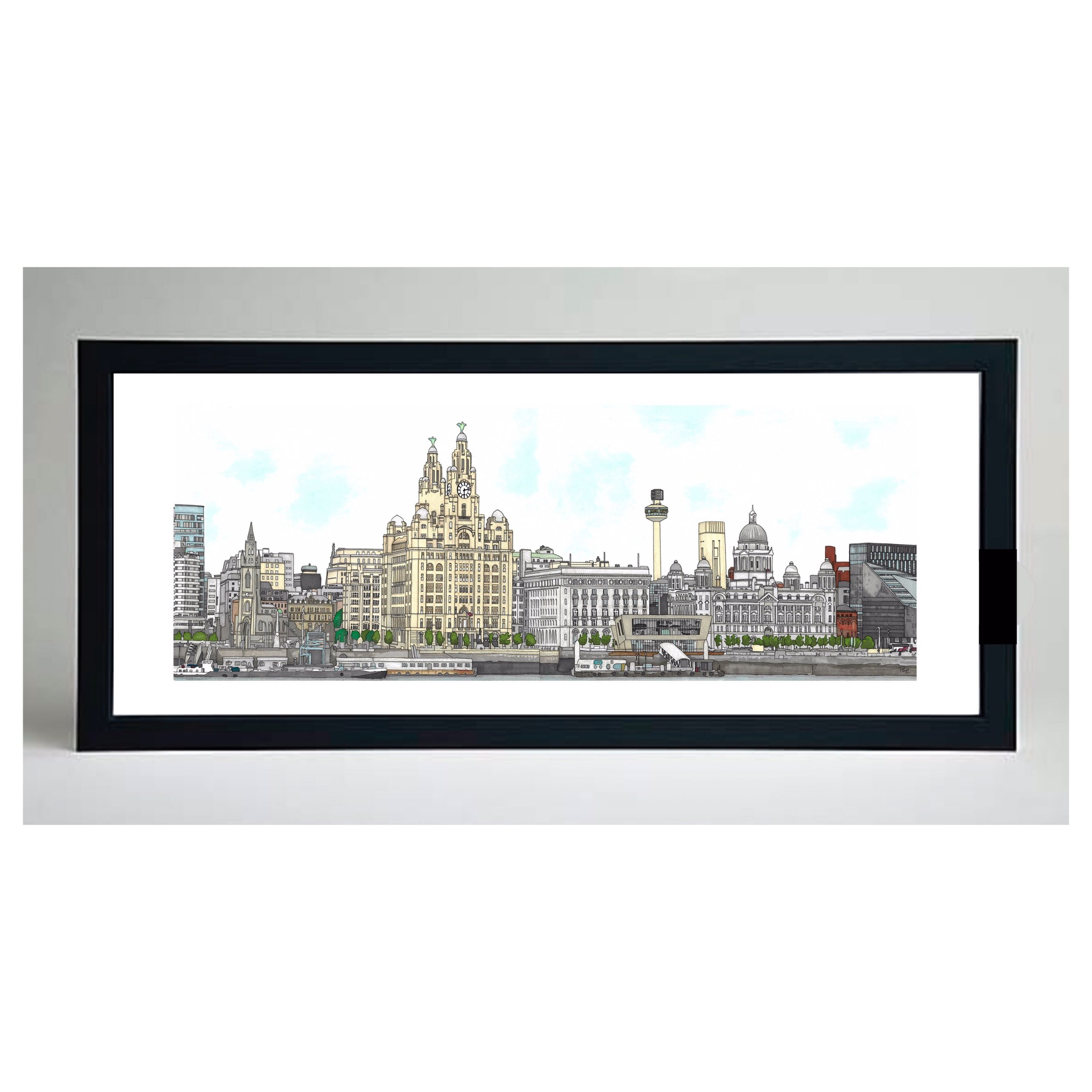 Liverpool Waterfront Print – Paint By Pablo