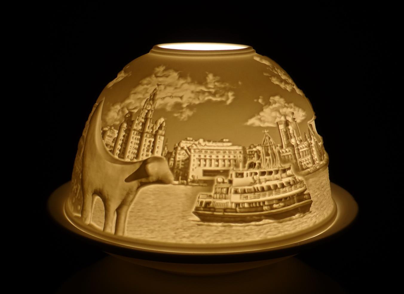 Liverpool 2 Skyline Ceramic Tea Light Holder