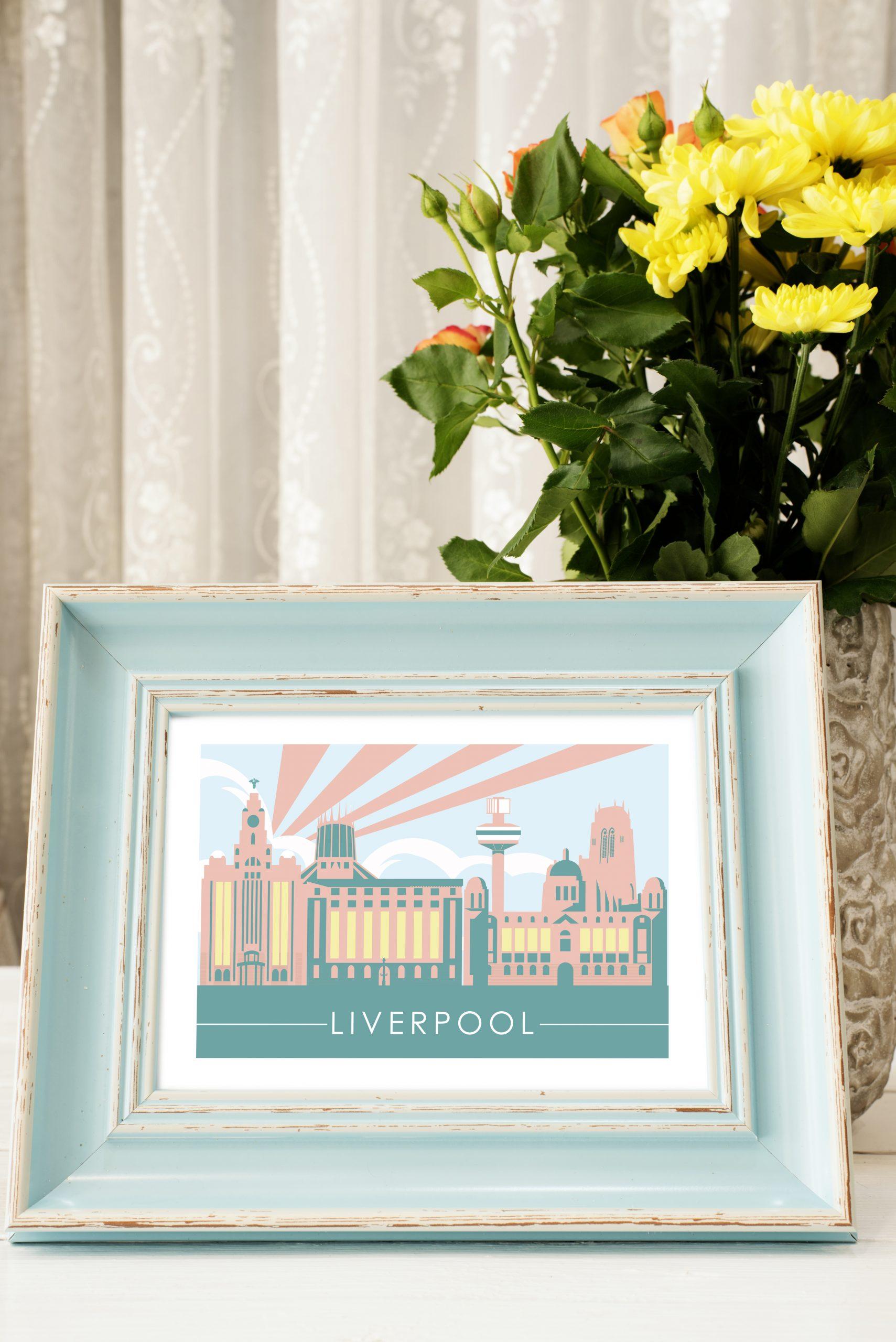 Liverpool Skyline Print – The Jones Boys
